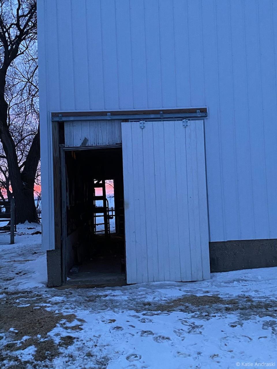 The Barn Doors Stick in Winter: WNIJ Perspective